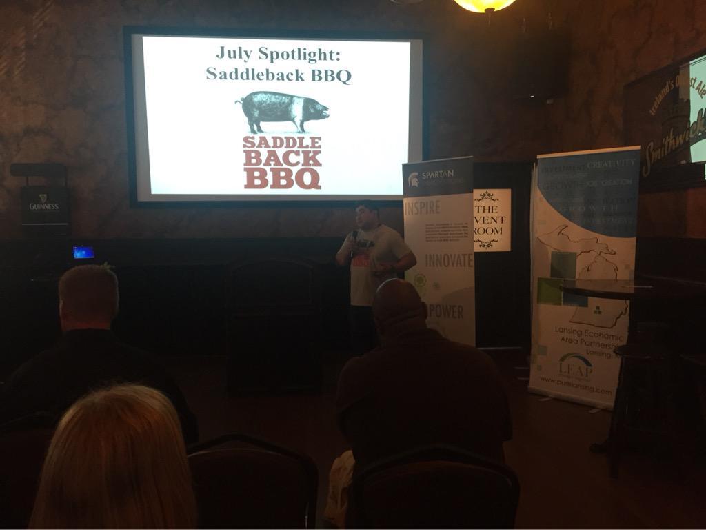 @Saddlebackbbq is the #Hatching July spotlight! Matt gave some great advice to new startups! http://t.co/mmkFtNPwsb