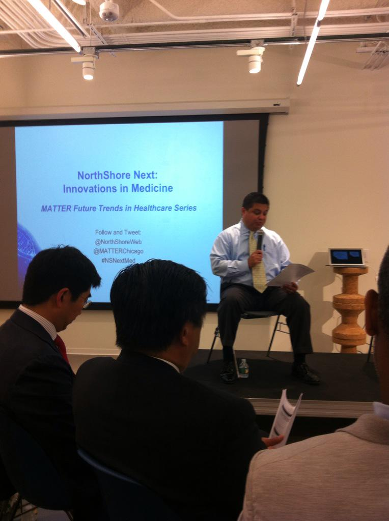 Kicking off #regenerative medicine #Healthcare @northshoreweb @matterchicago #nsnextmed http://t.co/2wxQXlT9xQ
