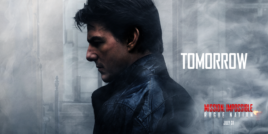 """RT @MissionFilm: """"SPECTACULAR"""" -@RollingStone Don't wait, get #MissionImpossible Rogue Nation tix now: http://t.co/5x7qnfRyLr http://t.co/E…"""