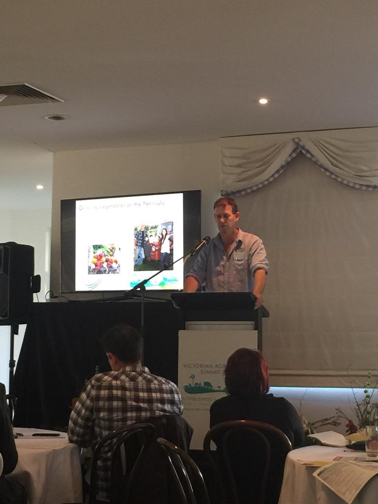 Great to see @penfreshorganic up on the stage at #VicAgri15 talking organic certification http://t.co/IYgOJvqWq5