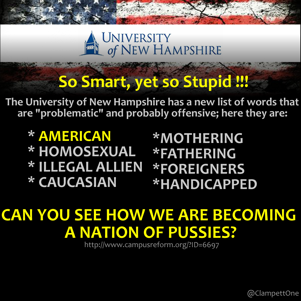University of New Hampshire bias-free guide says 'American' is offensive