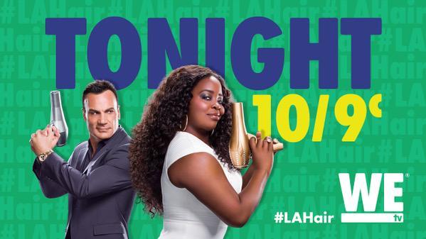 Tune in NOW! #LAHair http://t.co/GRtUkWuIzv