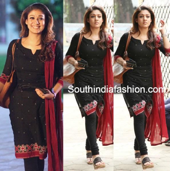 "South India Fashion on Twitter: ""Nayanthara in Black ..."