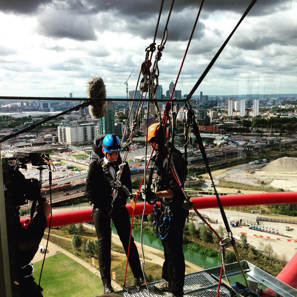 RT @AMOrbit: It was a pleasure having @JeffBrazier here braving our abseil earlier this week! @itv_thismorning @wireandsky http://t.co/cXzg…