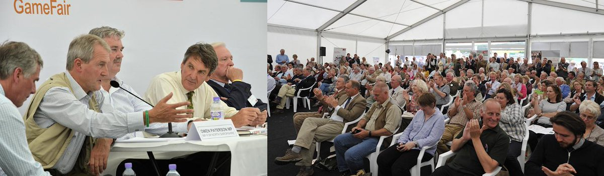 RT @CLAtweets: More Lively Debate in the CLA Game Fair Theatre: @Owen_PatersonMP @MarkAvery @elmleynnr @GWCT http://t.co/HOAmKYvt95