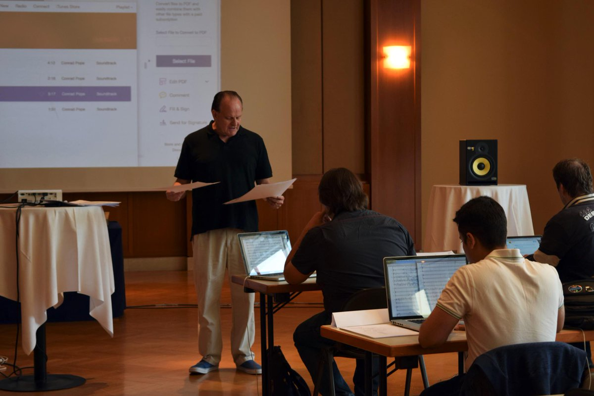 Good morning Orchestration class! Conrad Pope is going through some of his past scores. #HMW15 http://t.co/4UWfiIrkAx