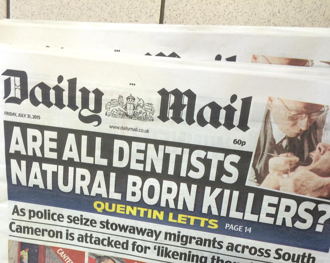 Really Daily Mail?!? Even by your standards... http://t.co/Un1DS42EnG