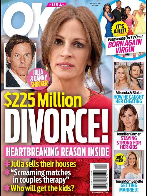 Julia Roberts Divorce: Danny Moder Pulling Plug After 10 Years