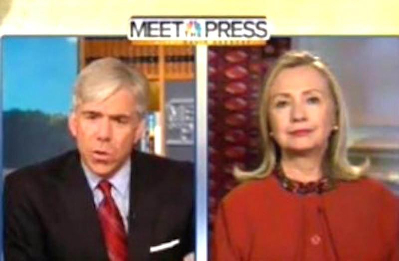 NBC fed Hillary Clinton questions before Meet the Press