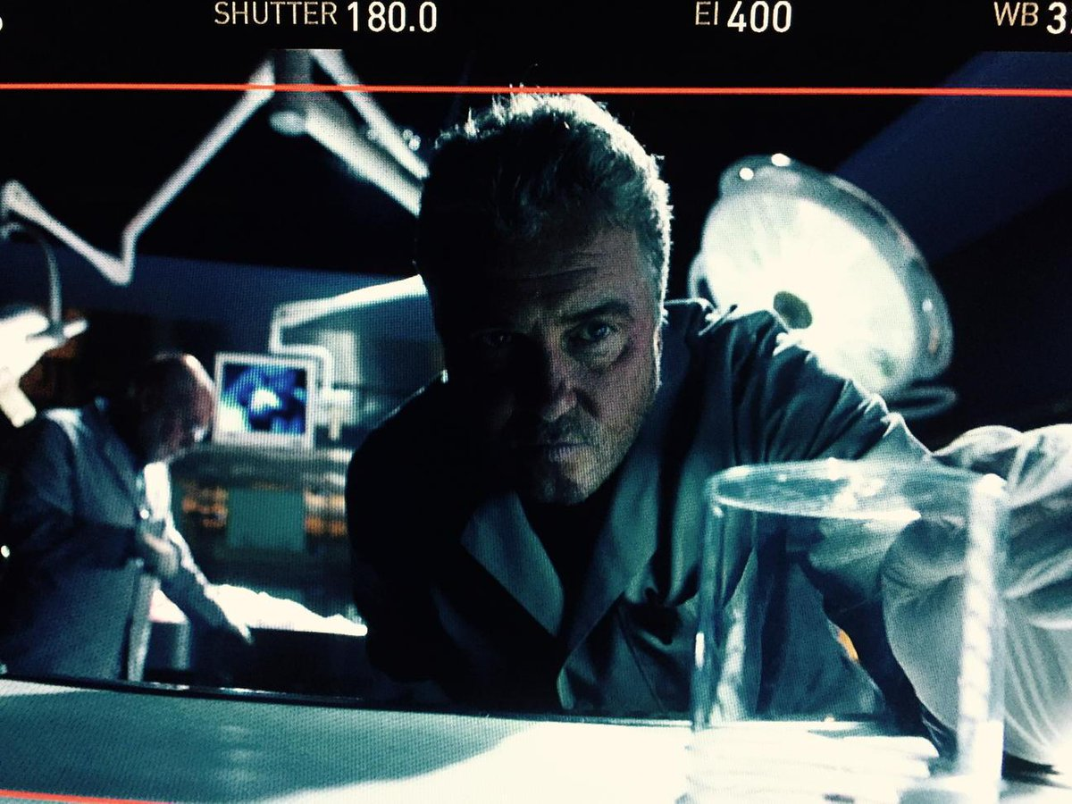 The master at work... Welcome back, William Petersen.  Love, the CSI family. http://t.co/hxidNu4k4q