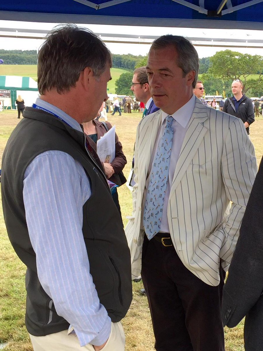 Nigel Farage just visited our stand at @TheGameFair and chatted with our Director of Policy, Alastair Leake. http://t.co/MpLaIbmXx6