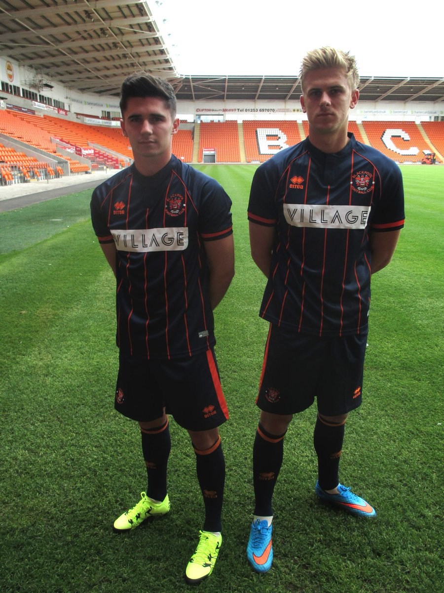 Blackpool Fc On Twitter Midfielders Henry Cameron And Brad Potts Model The New Blackpool Away Kit For The 2015 16 Season Http T Co A7tl9pml7v