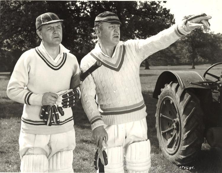 Naunton Wayne and Basil Radford in It's Not Cricket (1949)