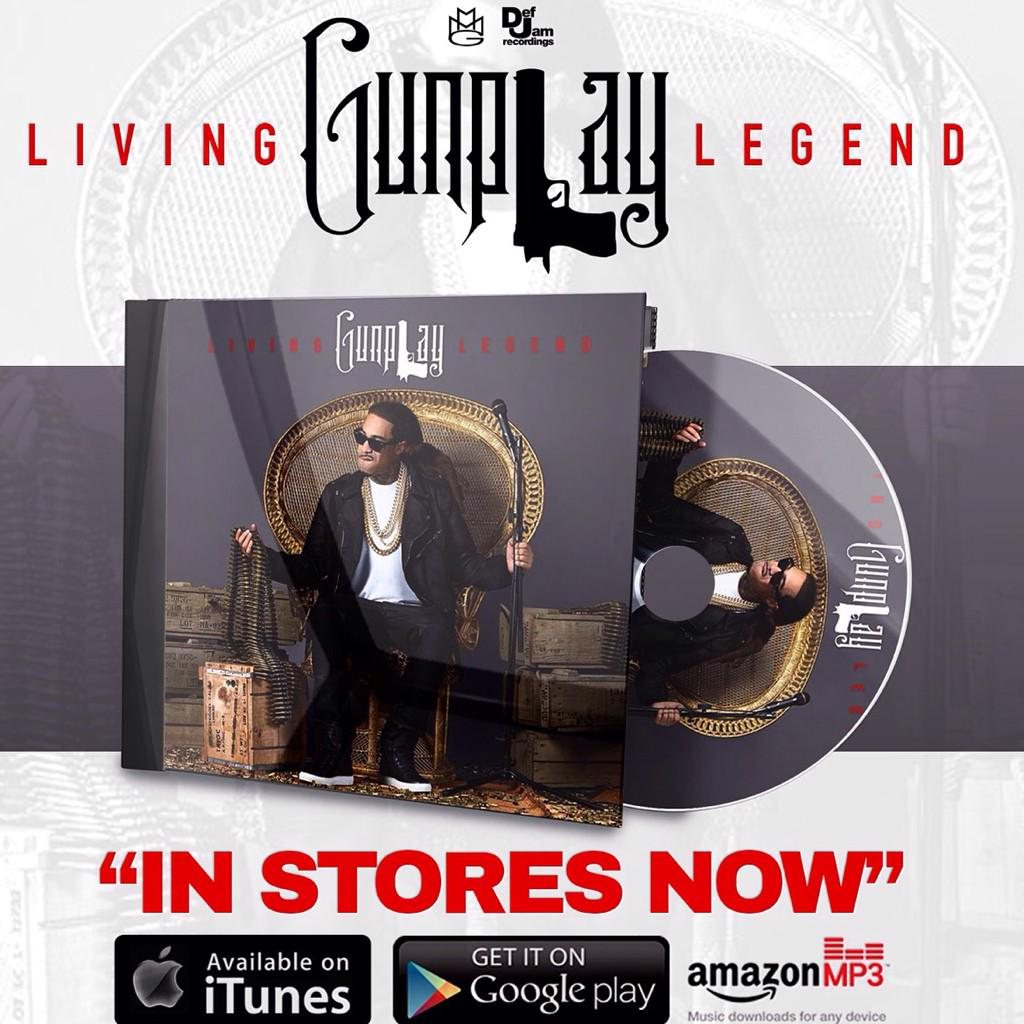 @GunplayMMG aka Gunplay #LivingLegend album in stores & online now -->http://t.co/PBDN5QVOZ3 #Gunplay #MMG #DefJam http://t.co/CKVOqd6cFh