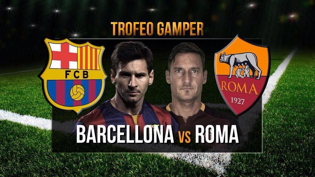 Diretta TV: Barcellona-Roma info Streaming Calcio al Nou Camp per il Trofeo Gamper