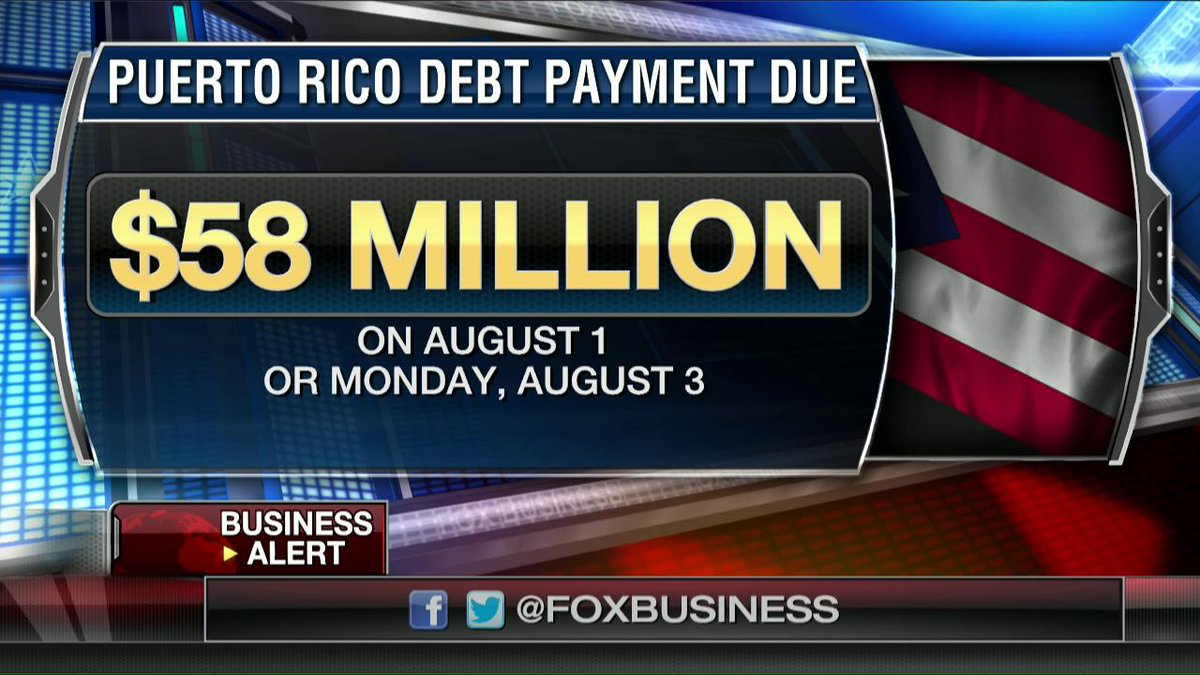 Puerto Rico defaults- Misses Aug 1 debt payment