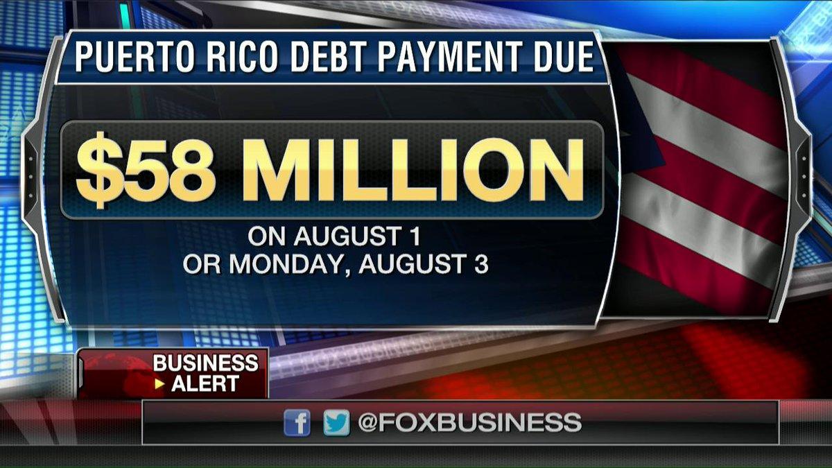 Puerto Rico defaults- Misses Aug 1 debt payment