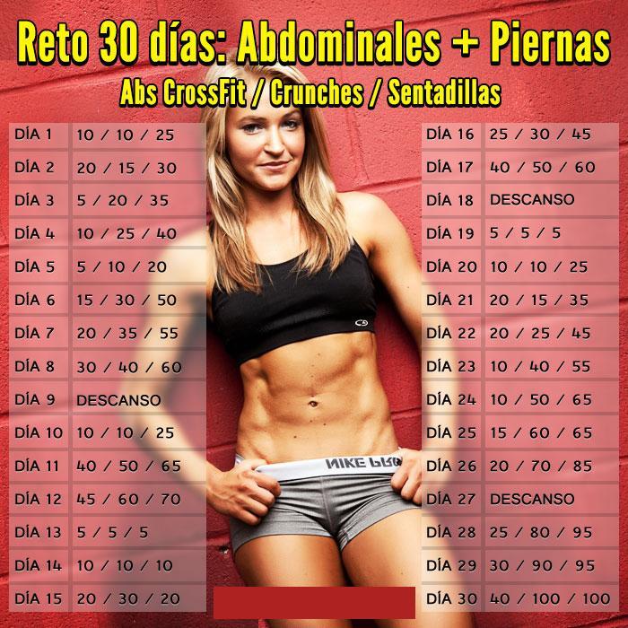 Reto abdominales en 30 dias