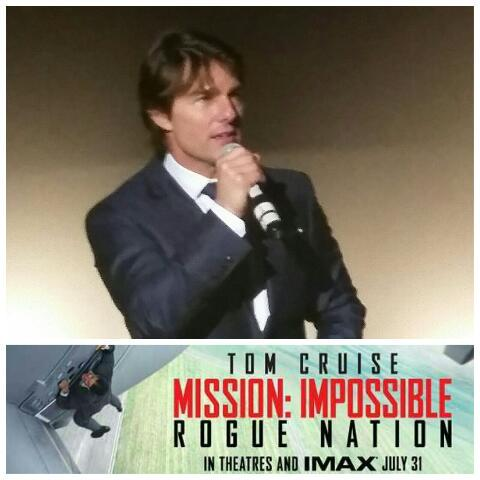 Our video of @TomCruise LIVE at @MissionFilm: Rogue Nation NYC screening https://t.co/7ppPdjlfrH  #MissionImpossible http://t.co/LGYUtGs8GP