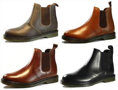 Boys Oaktrak Rocksley Black Leather Chelsea Dealer Ankle Boots Sizes UK 1 to 6