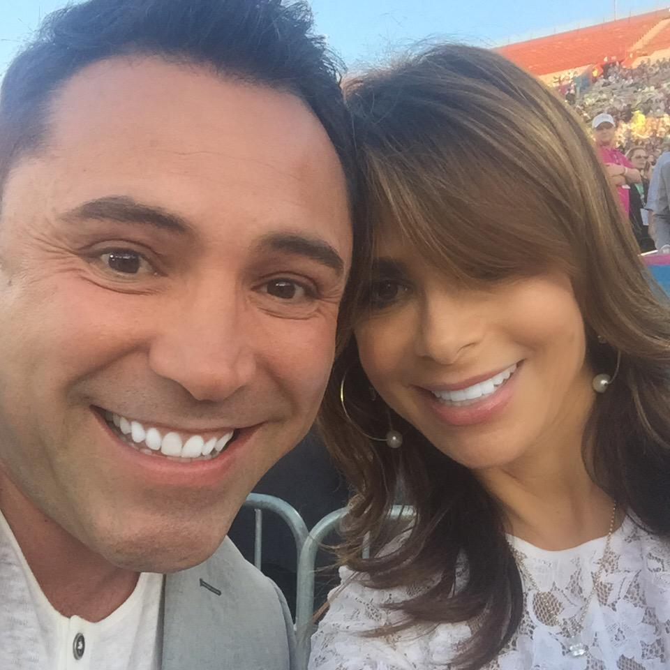 Me and @OscarDeLaHoya at @LA2015 :)) xoP #ReachUpLA #FlashbackFriday http://t.co/1tHUcilhd1