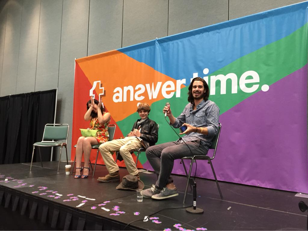 We learned @JoeyRichter's and @TYSIMPKINSactor's theme songs at @tumblr's #AnswerTimeLive today.