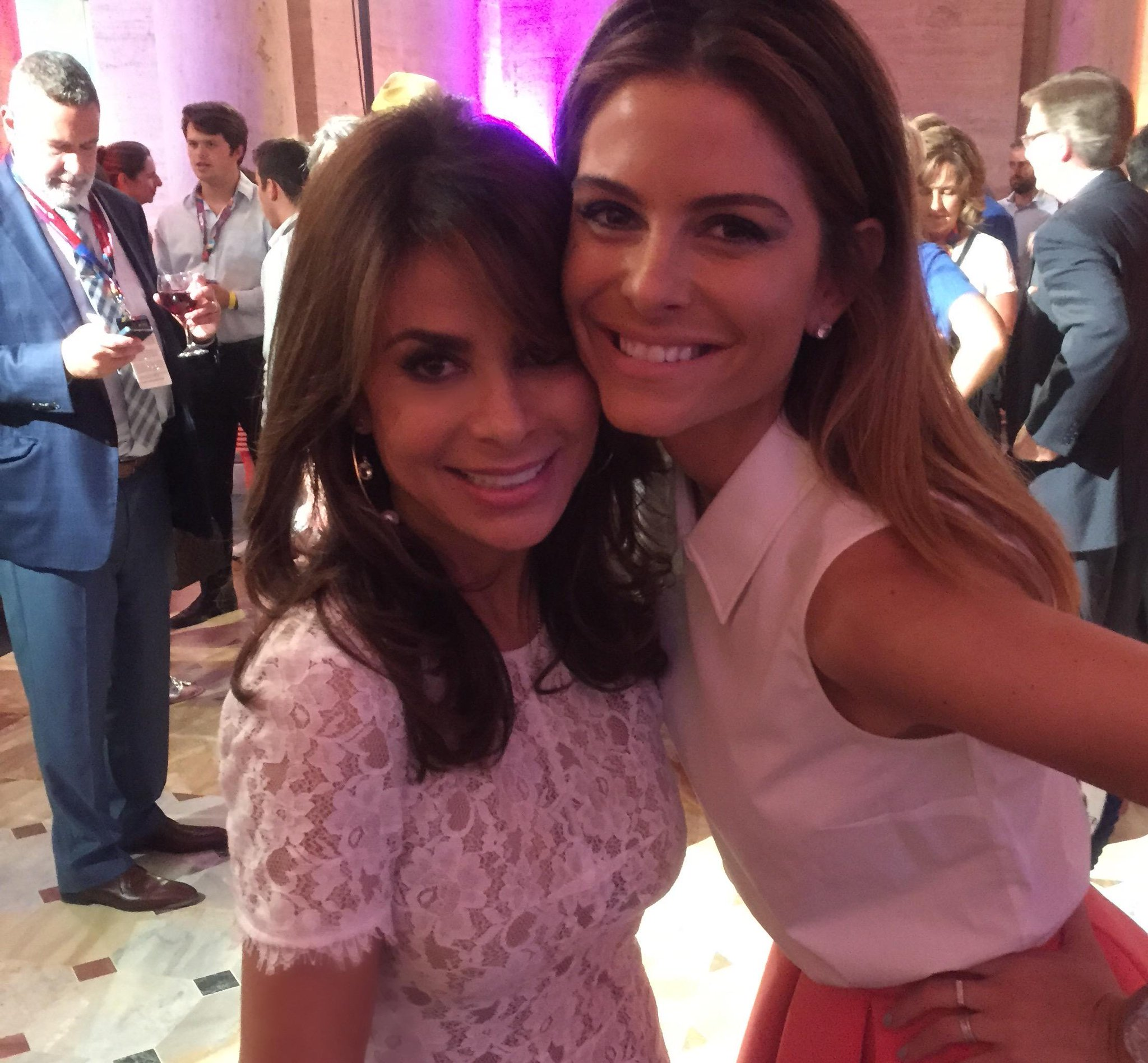 Me and @mariamenounos at @LA2015 :)) ...LOVED being at @SpecialOlympics Opening Ceremonies! xoP #ReachUpLA http://t.co/UVUtIAG7RD