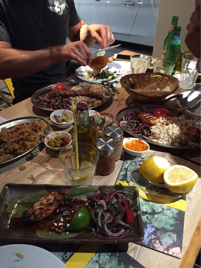 Nothing like a good feast following @psyclelondon !!! #yallaYalla 😋 http://t.co/Zuvlc4yf2Y