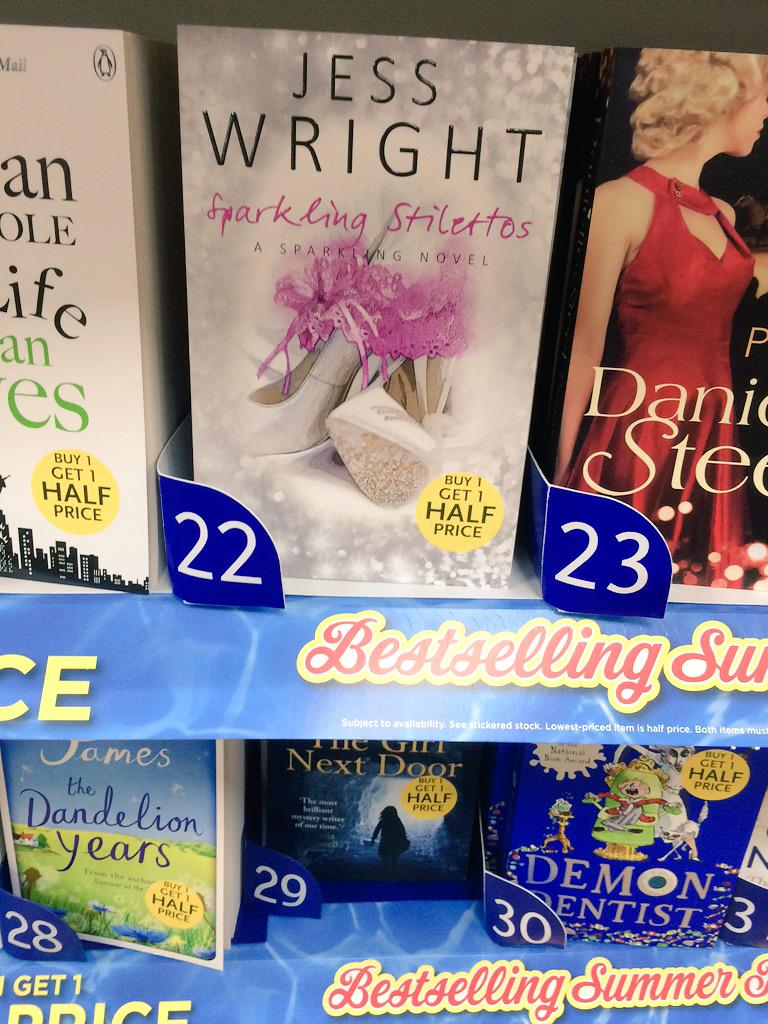 RT @benjirom: Proud moment today, saw @MissJessWright_ book while out shopping ☺️ http://t.co/PBTXWEHhwY