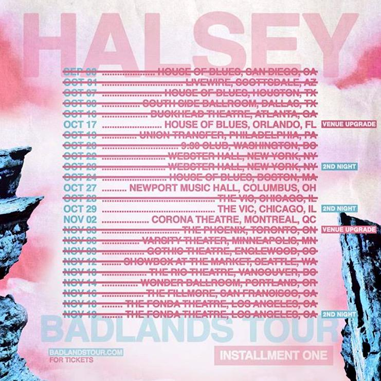 Halsey sold out tour 2015