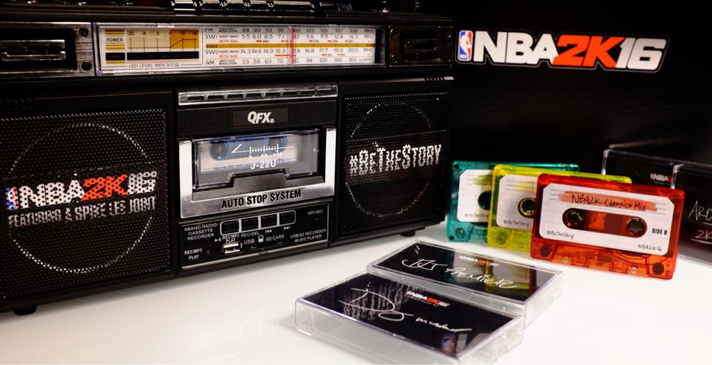 #NBA2K16 Boombox Giveaway Time! Random person who RTs this tweet could win, winner chosen Monday! #BeTheStory http://t.co/tzGXjrryYE
