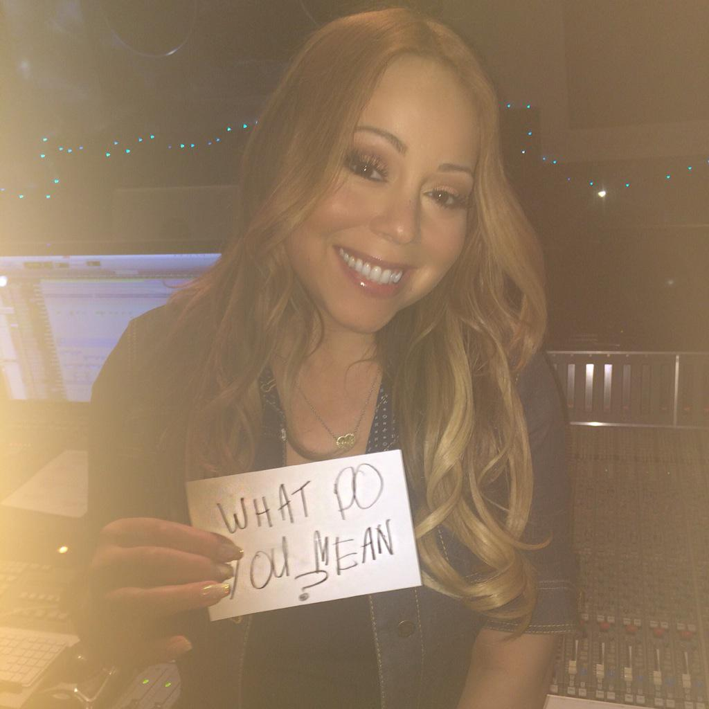 Even @MariahCarey is excited. #WhatDoYouMean http://t.co/d0qAVpULI0