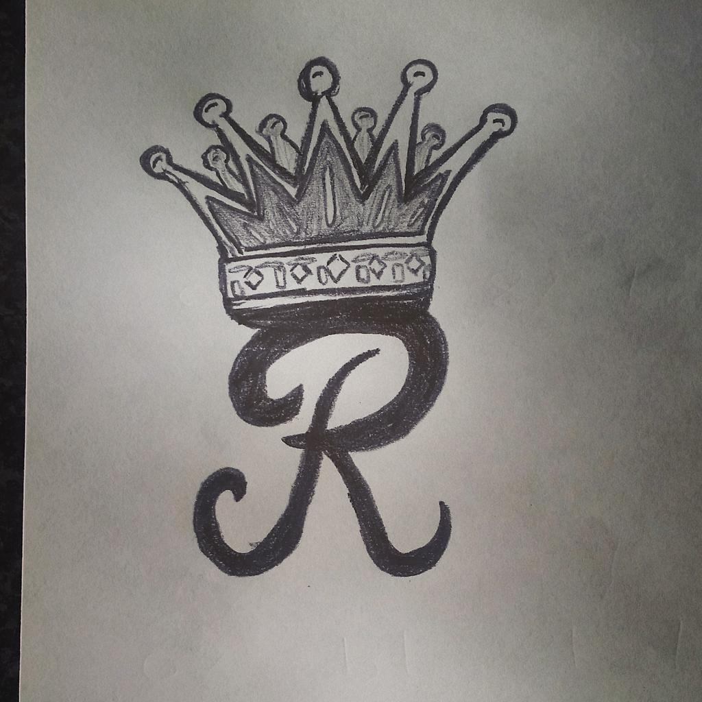 crown tattoos with letter r. Black Bedroom Furniture Sets. Home Design Ideas