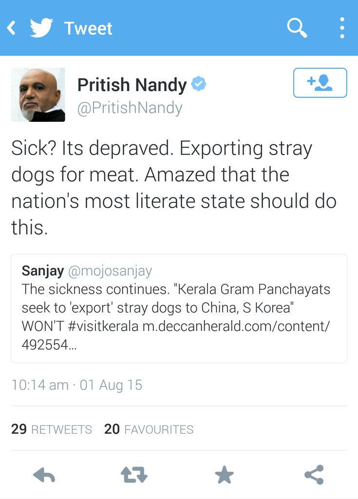 "Vande Mataram on Twitter: ""Dear @PritishNandy. If u wish to be a ..."