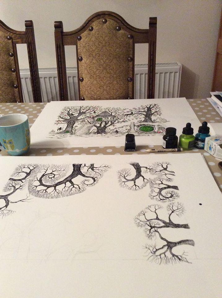 judit matthews art on twitter ink drawing artist at work http t co 712qlwfuxa