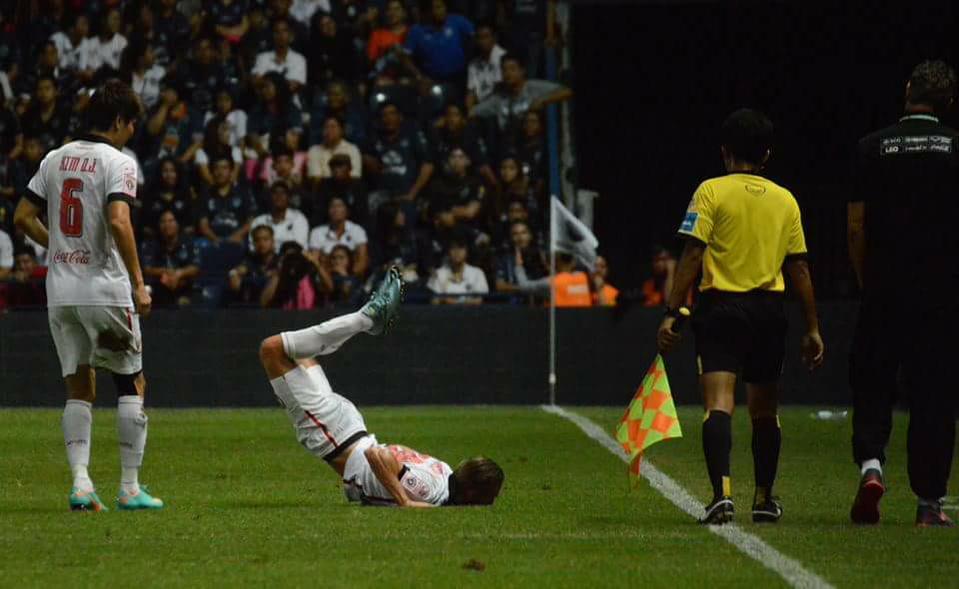 Gjurovski after his goal; photo: Goal Thailand