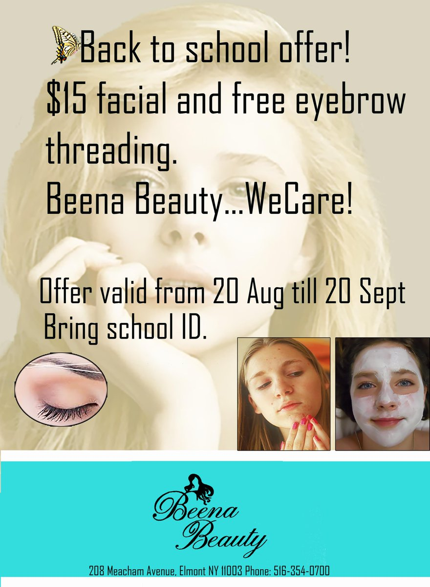Beena Beauty On Twitter 15 Facial And Free Eyebrow Threading My