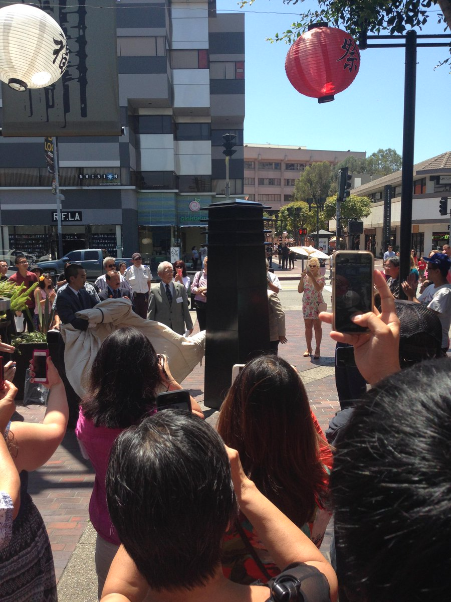 Unveiling of the monument dedicated to Sei Fujii @milesendo #LittleTokyo #LittleTokyoHistoricalSociety http://t.co/A3dsYK2jWZ