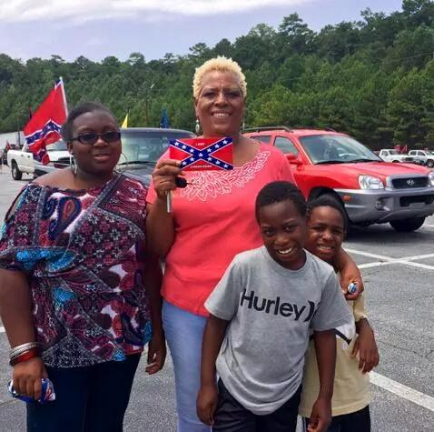 Stone Mountain pro-Confederate Flag rally photos