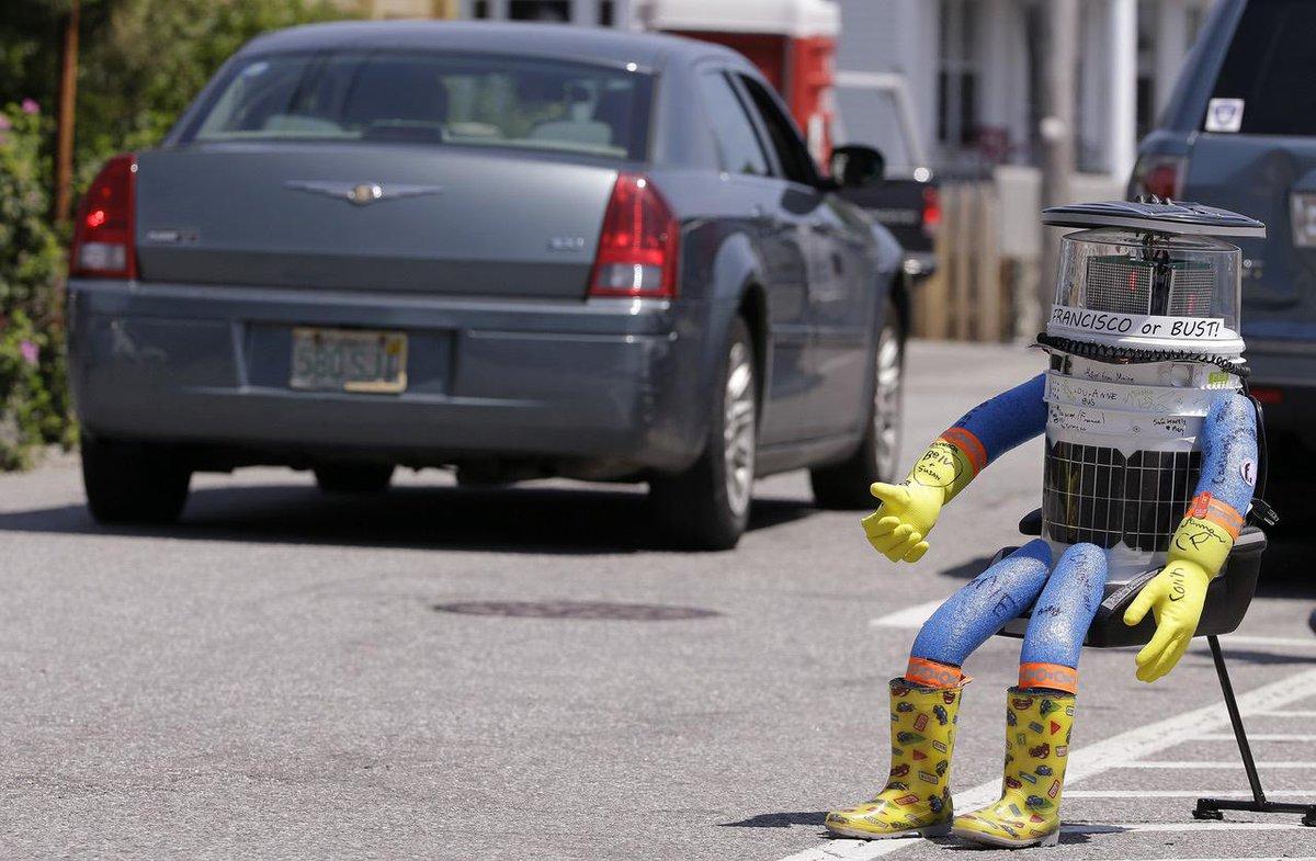 Hitch-hiking robot 'killed' in Philadelphia