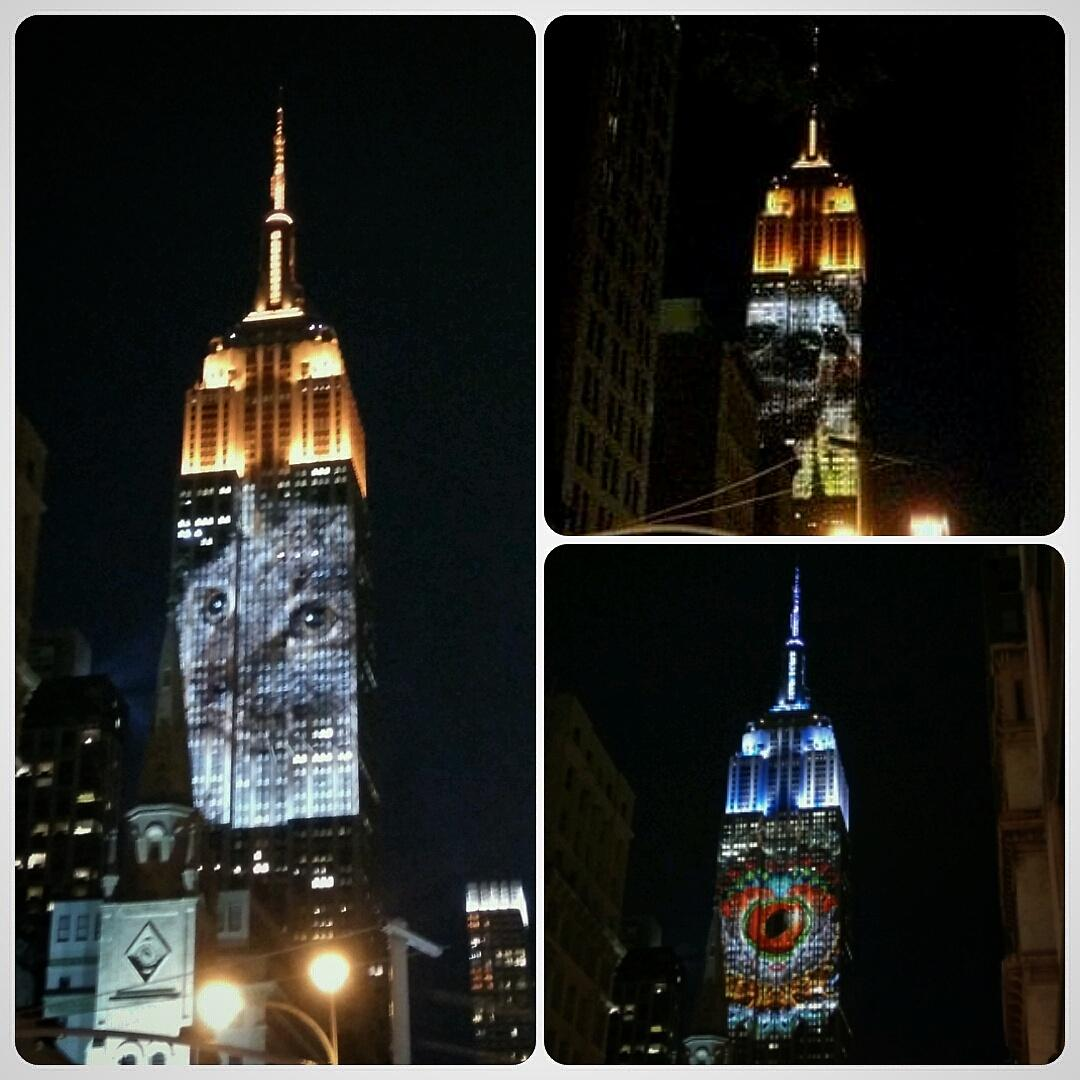 Thousands are lined up on 5th Ave to see @Extinction_OPS' beautiful endangered species light show #RacingExtinction http://t.co/C6hwnXx3uN