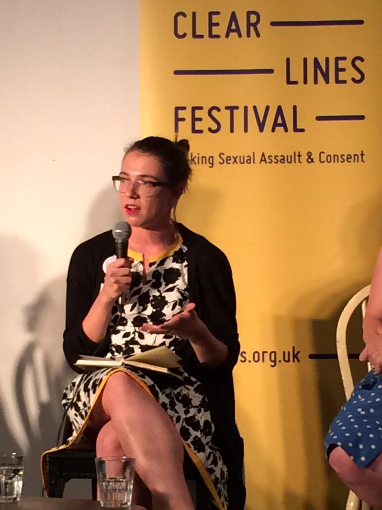 """""""A girl in my class told her mum she was raped. Her response- 'what were you wearing?'"""" @mariadraws #clearlinesfest http://t.co/81RzfZrwq0"""