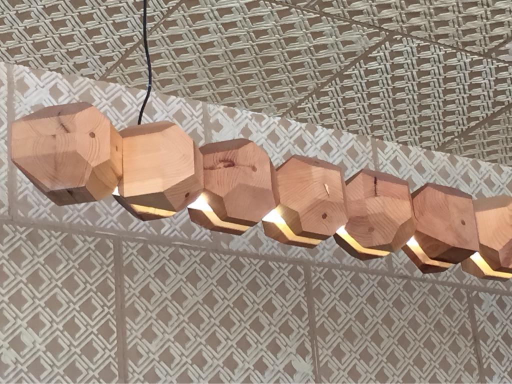 Light fixture at @saltandstraw #solids #mathphoto15 (ate my ice cream too fast to get a pic of that solid!) http://t.co/ZOvira9dYc