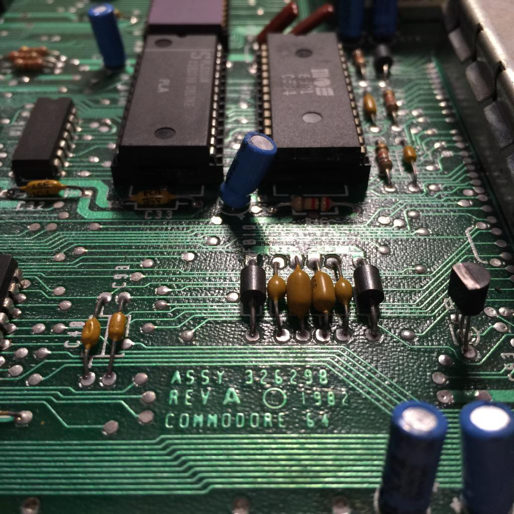 Commodore 64 Rev A Motherboard 1982
