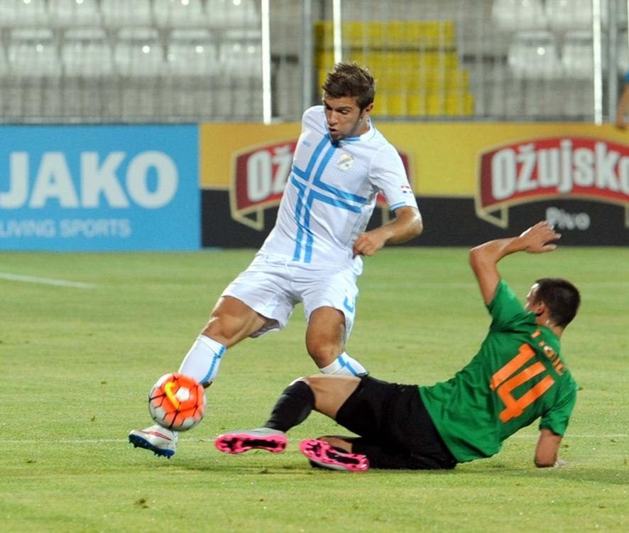 Ristovski playing for Rijeka