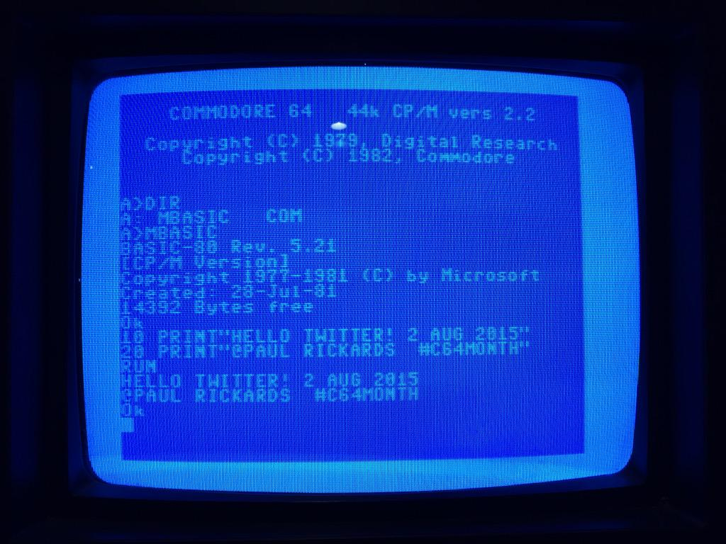 MBASIC on C64 CP/M Cartridge