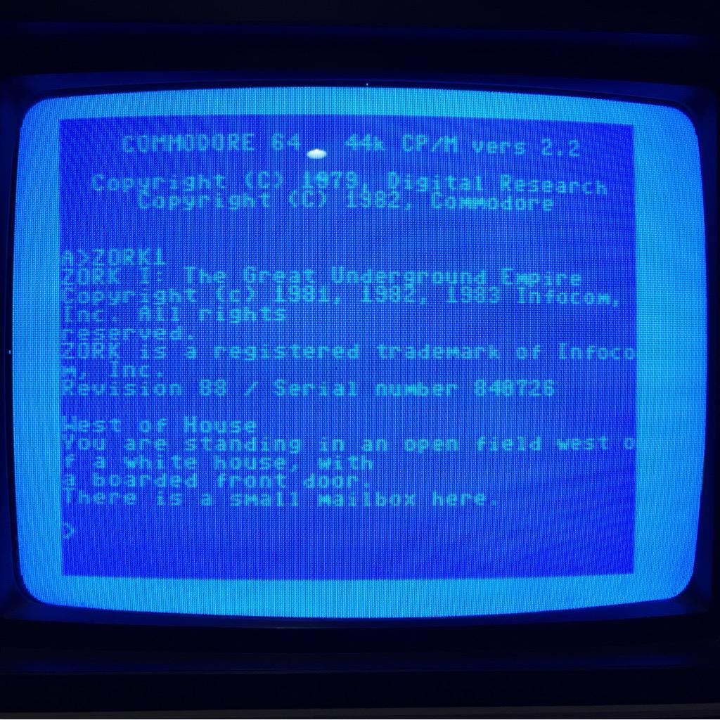 Zork I Running on C64 CP/M Cartridge