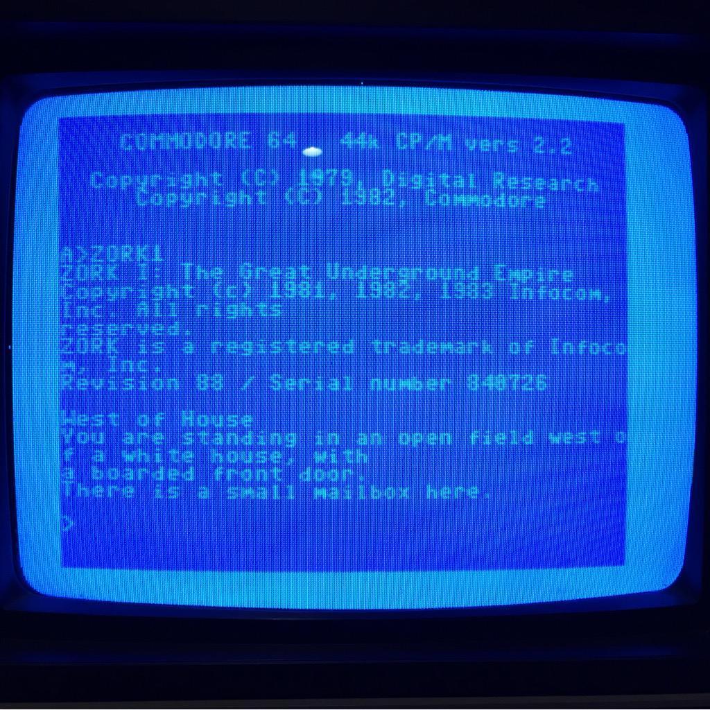 Zork I Running on C64 CP/M Cartridge