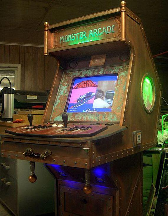 #Steampunk Awesome of the Day: All #Brass and Rivets Monster #Arcade #Gaming  via @Mad_Slug #SamaCuriosities