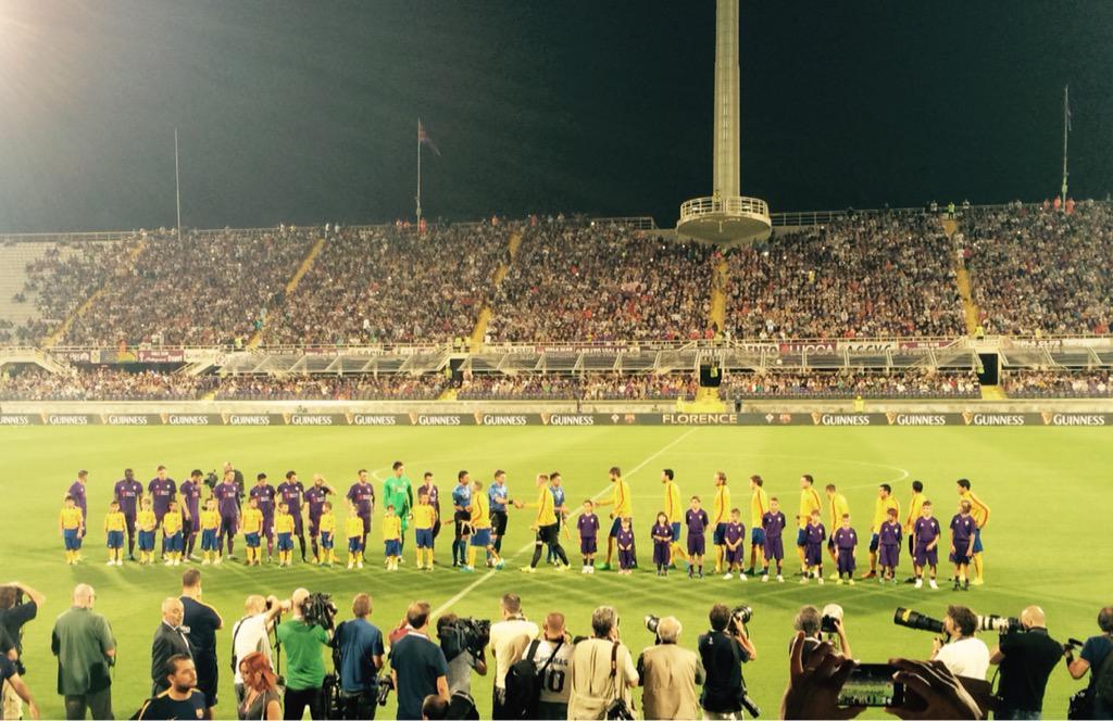 VIDEO Fiorentina-Barcellona 2-1: doppietta Bernardeschi, Luis Suarez il gol della bandiera